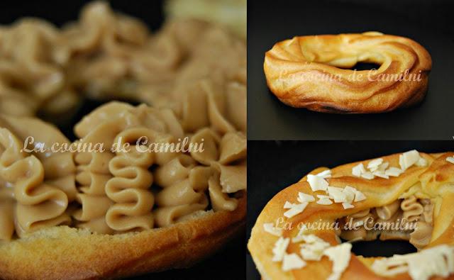 París Brest con crema de café (La cocina de Camilni)