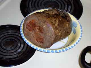 Bolices browned meat