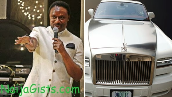 rev chris okotie roll royce car