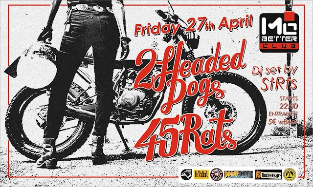 [News] 2 Headed Dogs & 45Rats Live [27.Apr.'18]