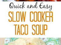 Quick & Easy Slow Cooker Taco Soup