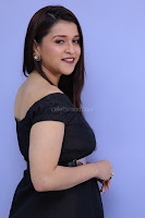 Mannara Chopra in Short Off Shoulder Black Dress ~  Exclusive 003.JPG