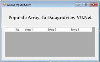Populate Array To Datagridview VB.Net, design Form array to datagridview VB.Net