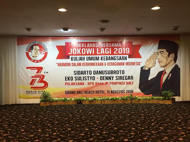 Deklarasi Jokowi di Bali
