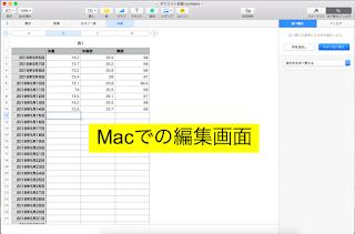 MacでNumbersでどこでも表計算をしてみる