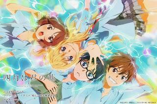 Daftar Lagu Pembuka dan Penutup Anime Shigatsu wa Kimi no Uso