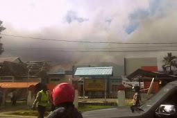 Jelang Pleno, Kantor KPU Kepulauan Yapen Terbakar