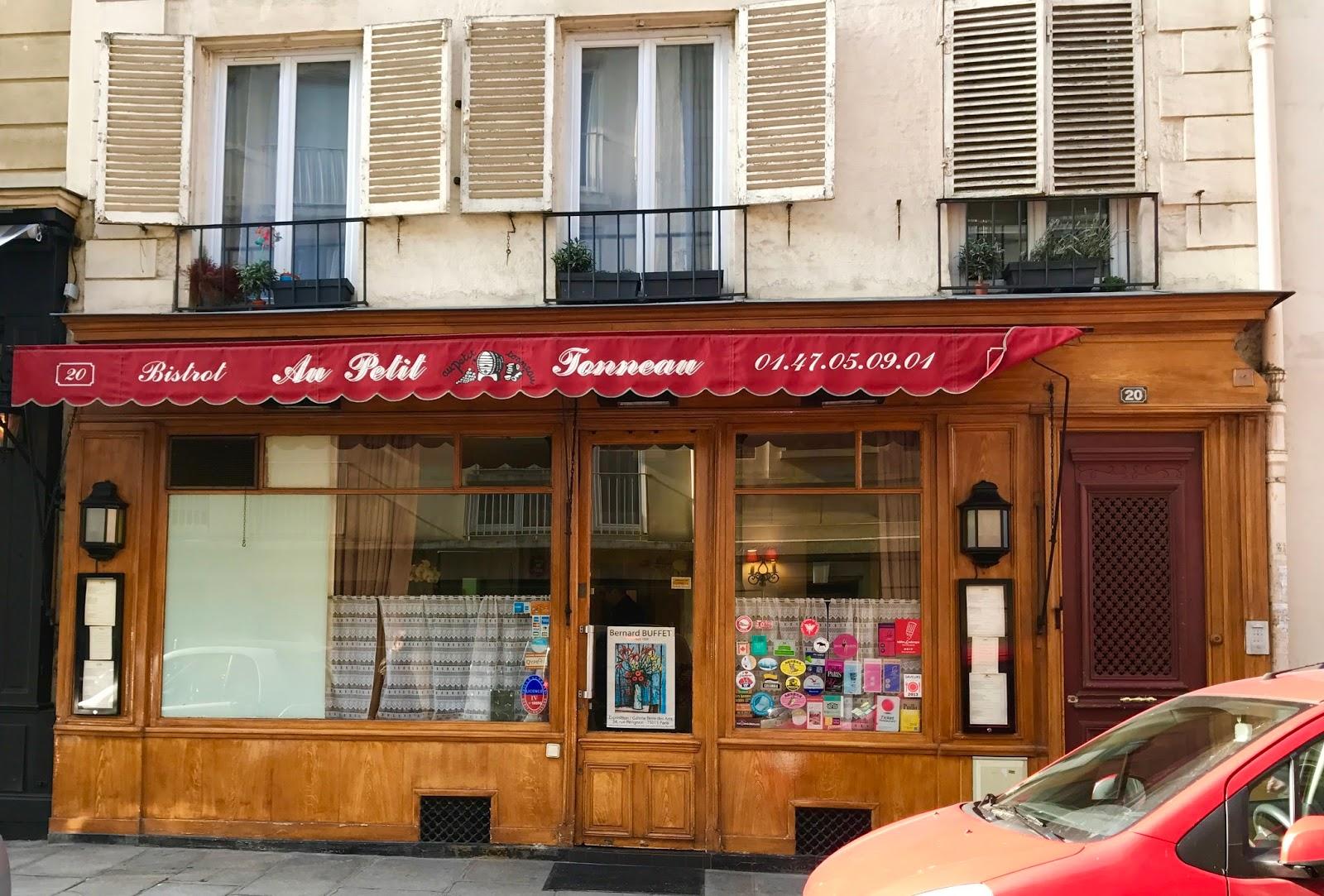 Deco Tonneau De Vin paris missives: au petit tonneau -- restaurant review