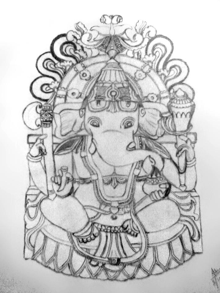 Lord Ganesha Pencil Sketch | Lord Ganesha Pencil Art ...