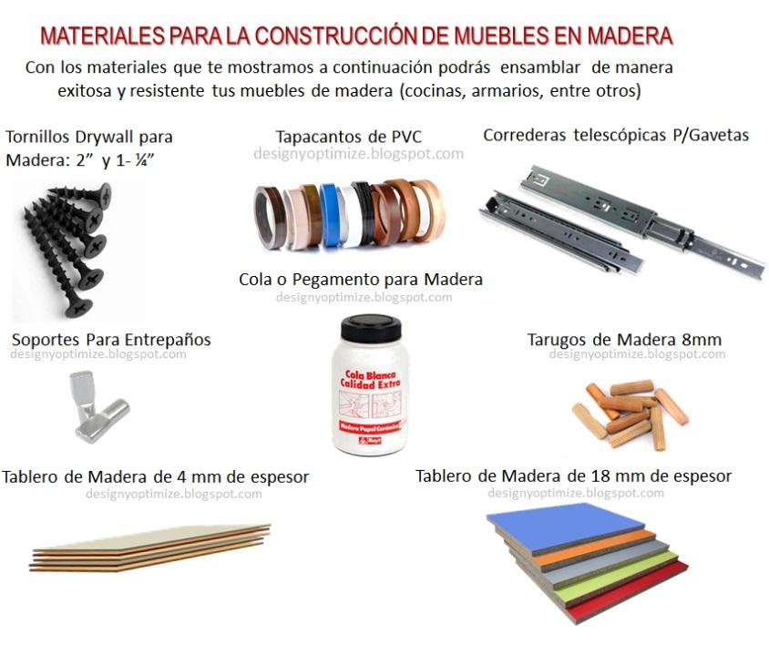 Dise o de muebles madera qu materiales usar en - Materiales de carpinteria ...