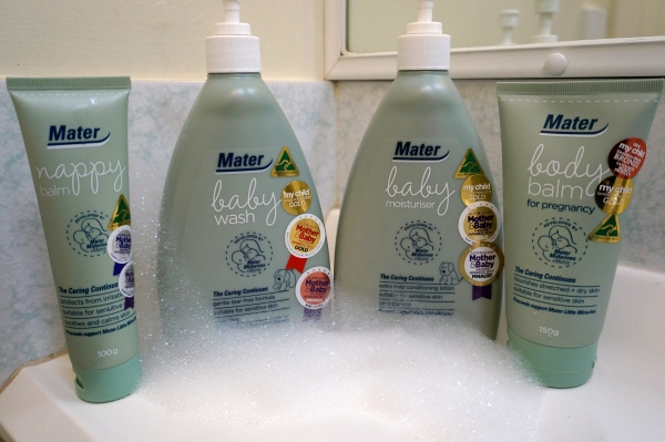 Mater Mothers' Hospitals Skin Care Range 4 products for mum and bubs | awayfromblue