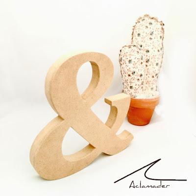 letra & de madera DM