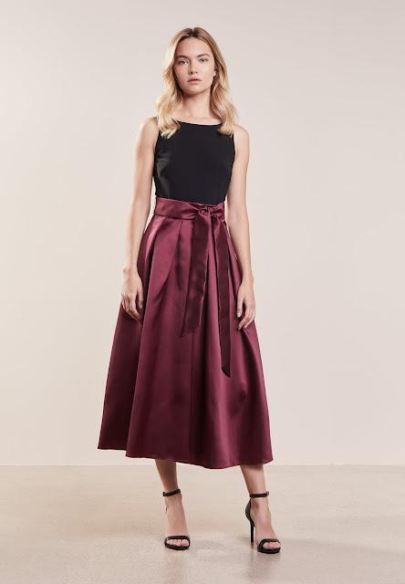 Ralph Lauren Satin Twill-Zane Vestito Elegante