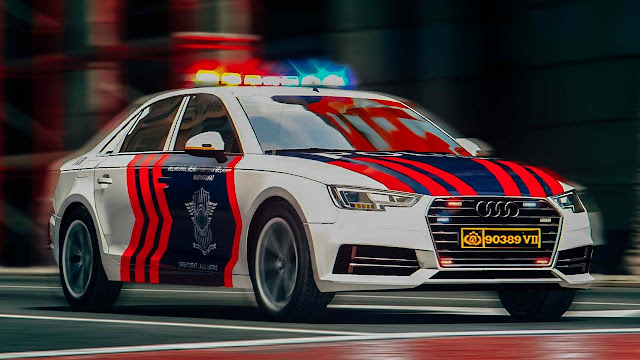 Mod Mobil Polisi Indonesia Audi A4 GTA 5