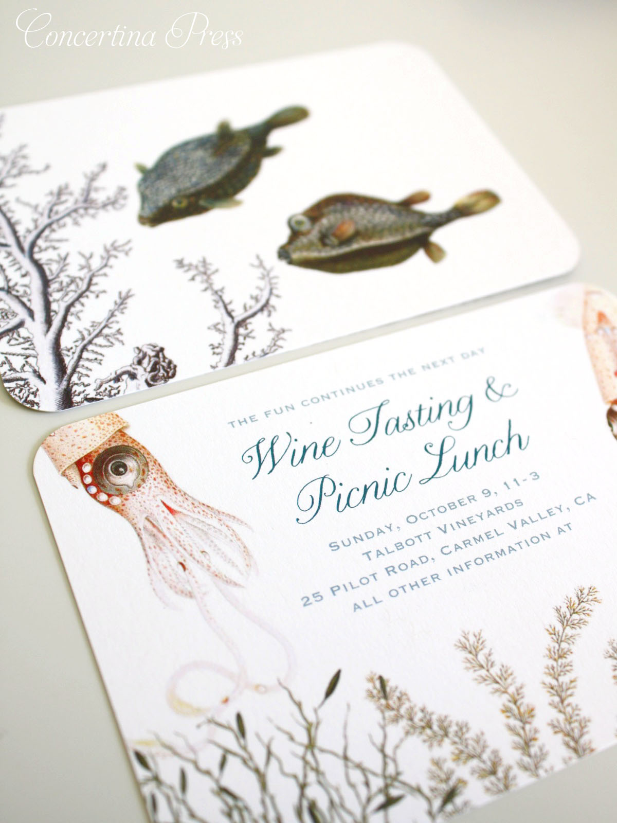 Vow Renewal Invitations - Monterey Bay Aquarium