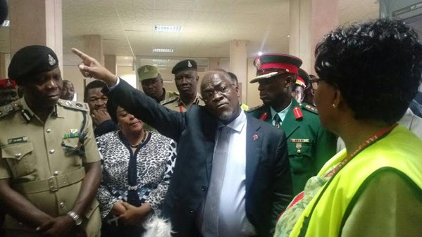 Magufuli makes surprise visit at Julius Nyerere International Airport