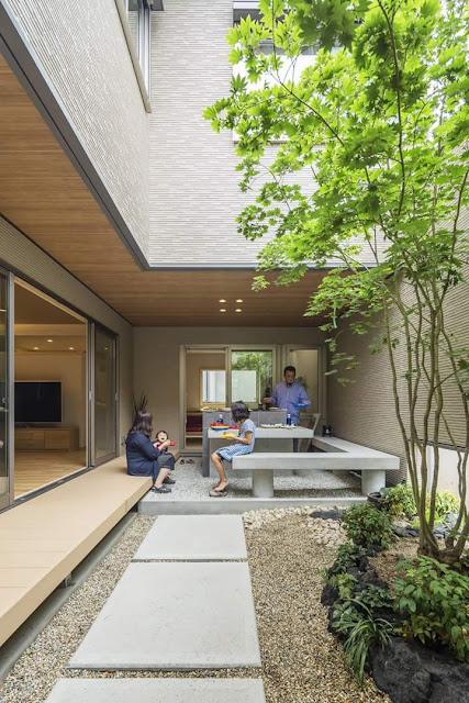 Contoh terbaik teras belakang rumah minimalis