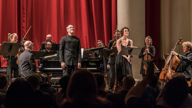 Bampton Classical Opera: Songs for Nancy - Andrew Griffiths, Jacquelyn Stucker and CHROMA (Photo Roger Way)