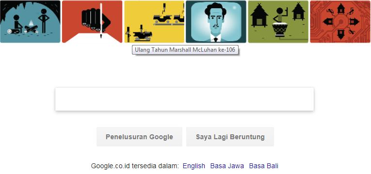 Google Doodle Hari ini : Marshall McLuhan