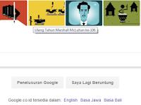 Google Doodle Hari ini : Marshall McLuhan Sang Peramal Internet