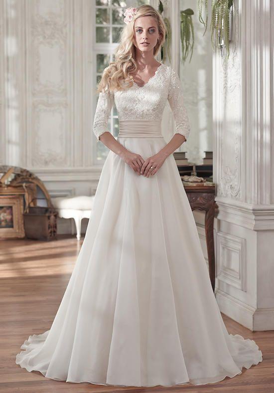 abito da sposa maniche a tre quarti