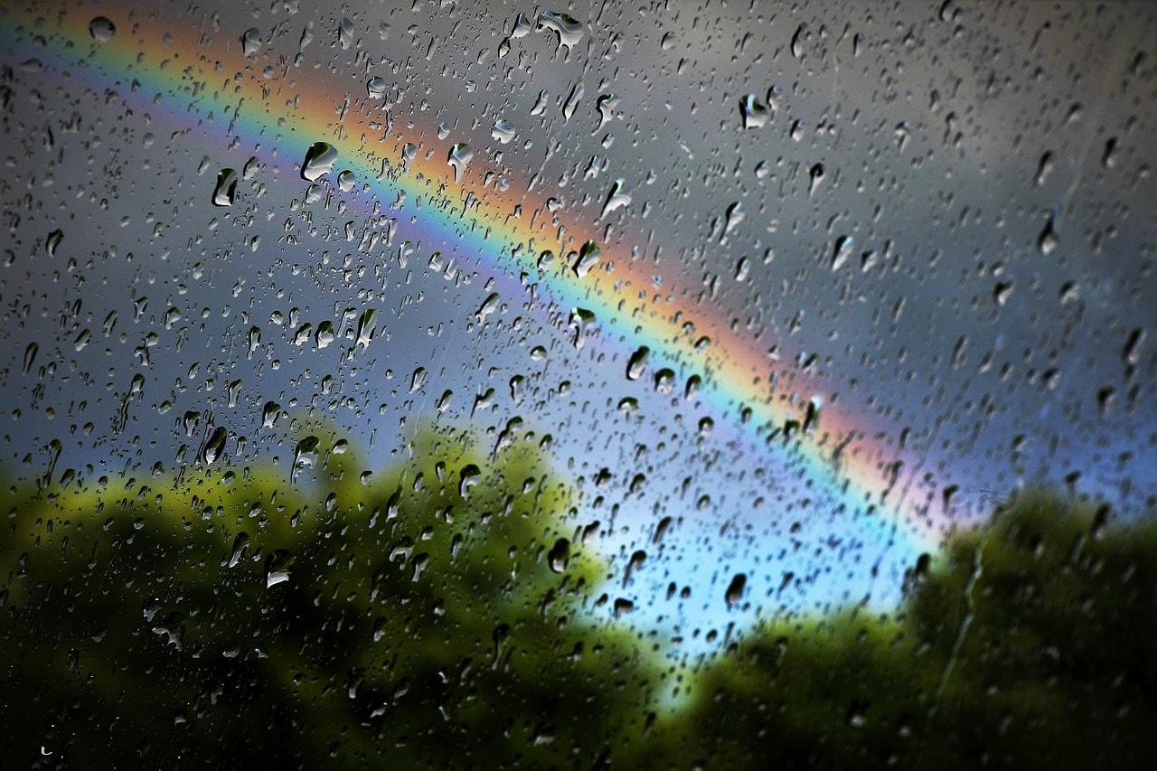 deszczowy wiersz