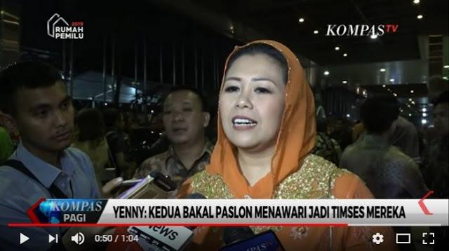 Disebut Bakal Masuk Tim Sukses Prabowo-Sandi, Ini Kata Yenny Wahid