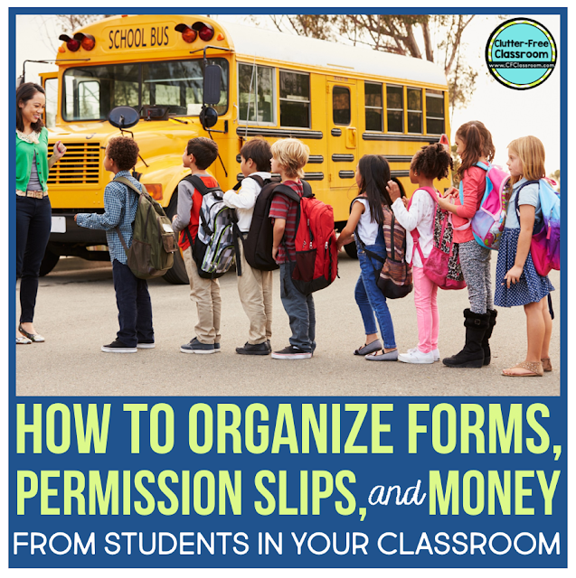 Field trips and fundraisers can be overwhelming but they don't have to be! Check out these simple tips on communicating with parents/guardians and collecting and organizing permission slips, forms, and money. These easy filing system ideas will help you track and organize everything.