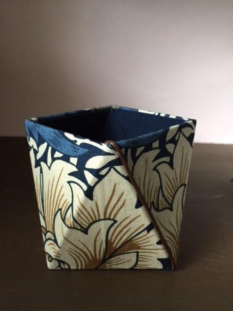 カルトナージュ教室:ひねり箱