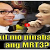 BREAKING NEWS :Grace Poe blames Mar Roxas on MRT3 problems! PANOORIN