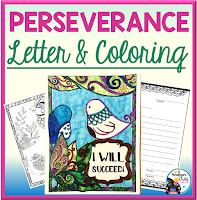 perseverance letter and coloring sheets