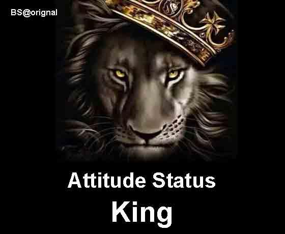 Cool Attitude Status In Hindi Attitude Status King