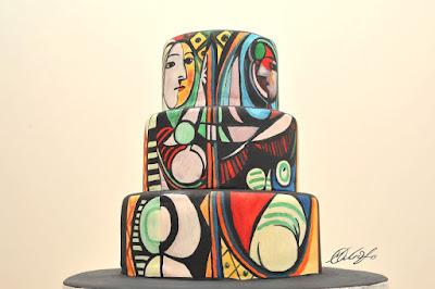 Pastel o torta decorado con una obra de Picasso