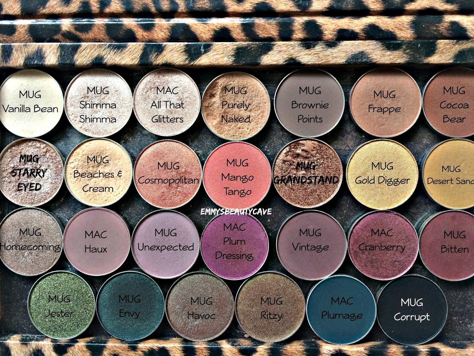 Makeup Geek Eyeshadows, MAC Eye Shadows