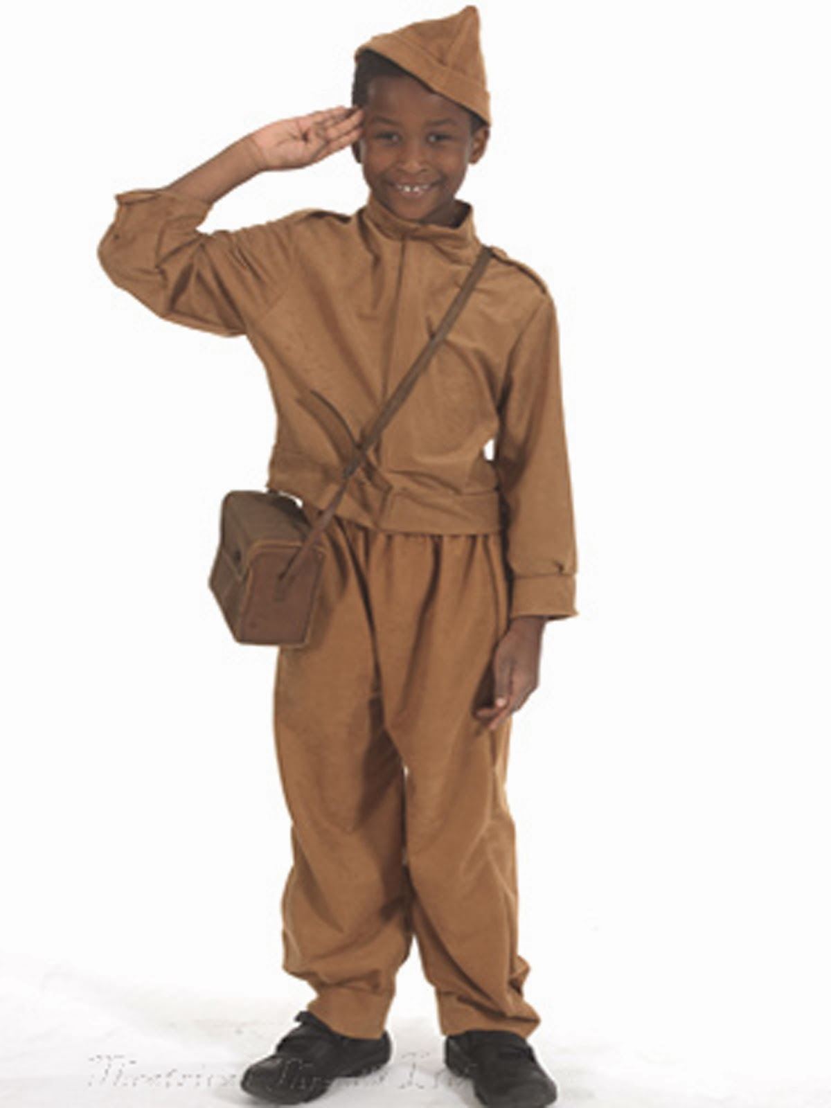 Kids Home Guard Soldier Costume age 8-10 & 10-12 years from Theatrical Threads