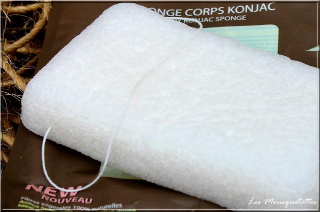 Éponge Konjac Corps Elite Models gamme Spa - Blog Les Mousquetettes©