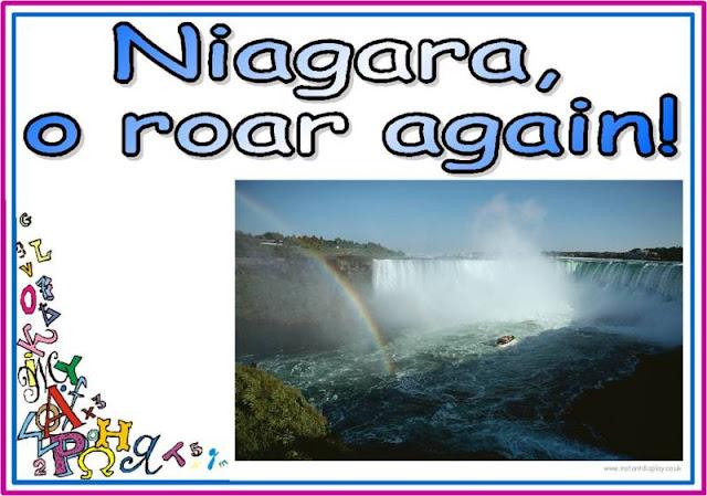 Водопадни палиндром о тутњању Нијагаре