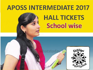 Manabadi APOSS Inter Hall Tickets 2017,AP Open Inter Hall Tickets 2017
