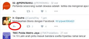 Cara memberkan komentar twitter