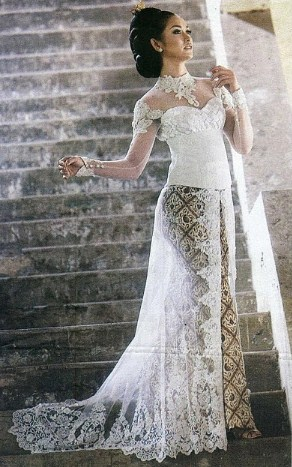 model kebaya pengantin elegan