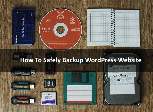 Back Up your Database and WordPress Files