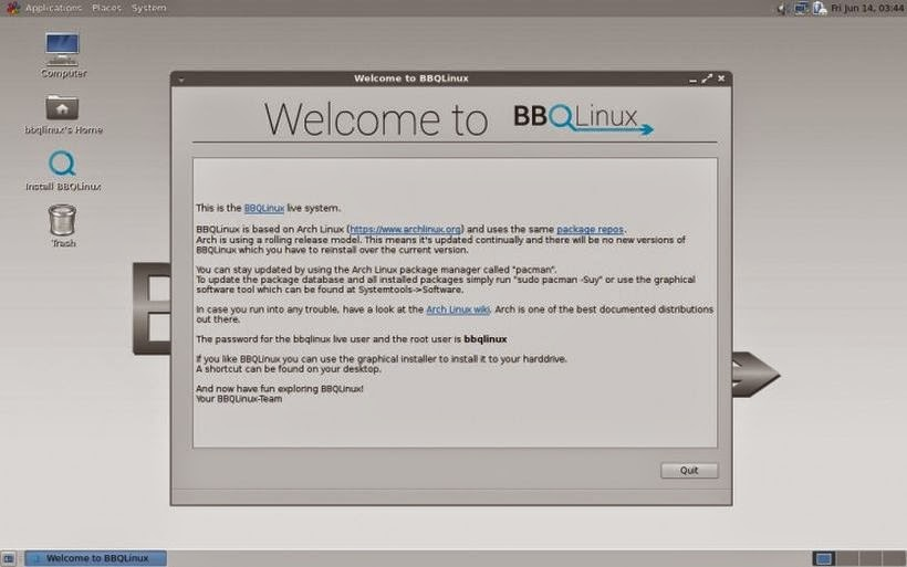 BBQLinux - Arch Linux, Mate, Android Studio and the new