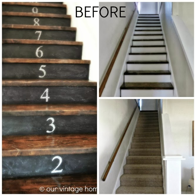 vintage home love: Stairway Renovation