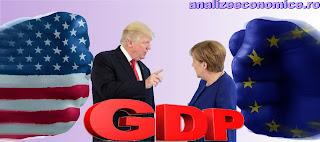Topul statelor componente ale UE și ale SUA după PIB