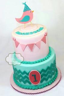 kue ultah burung lucu