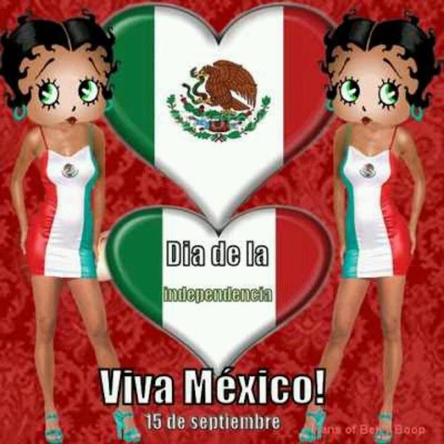 Viva Mexico 15 de septiembre Betty Boop