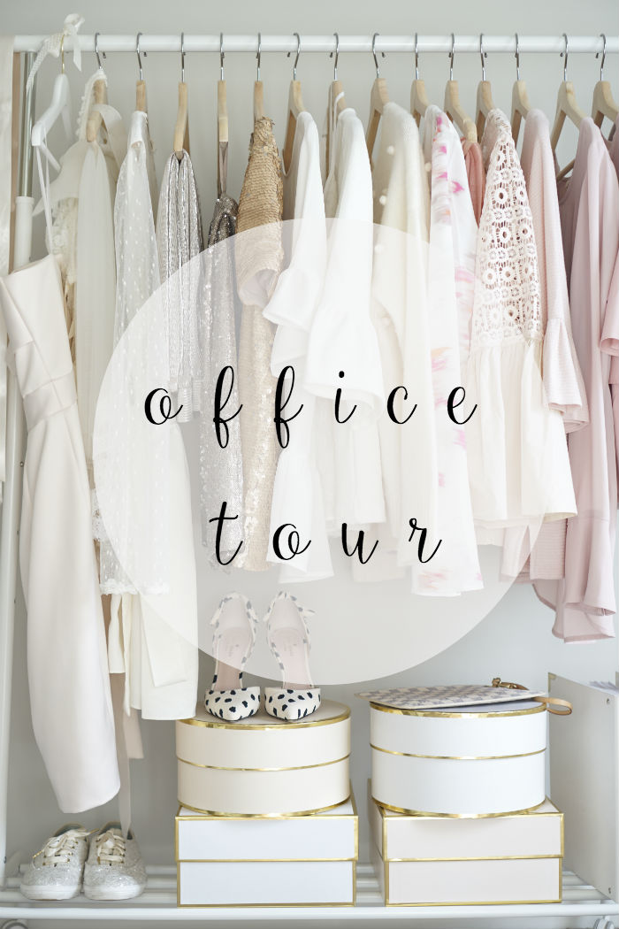 blogger office tour, clothing rack inspiration, office inspiration, closet office, strawberry chic