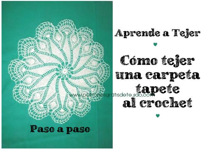 aprende a tejer gratis una carpeta paso a paso