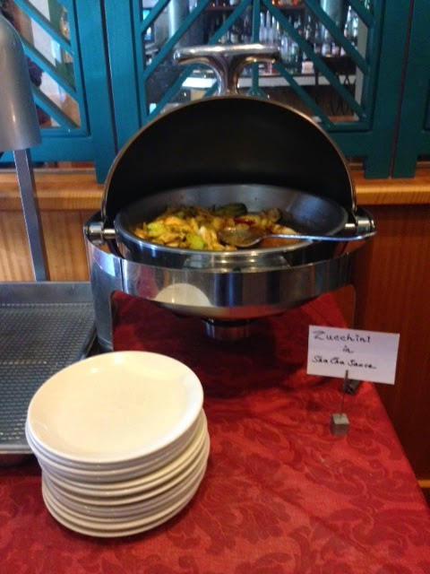 Veggie Bar At Asean Bistro's Chinese Lunch; All-You-Can-Eat Side Dishes  With Your Entree