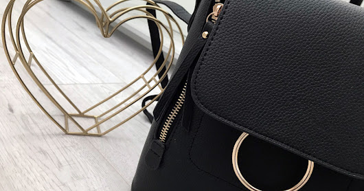 new in: ring detail mini backpack